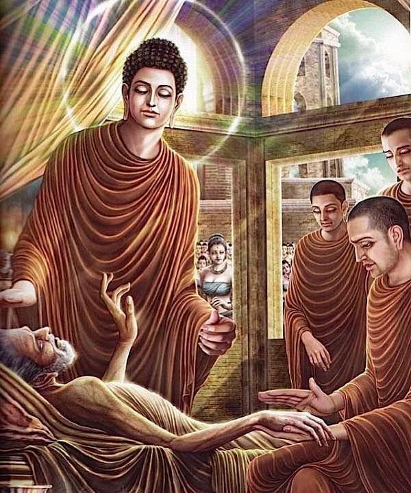 Buddha Weekly Buddha and the suffering monk Buddhism