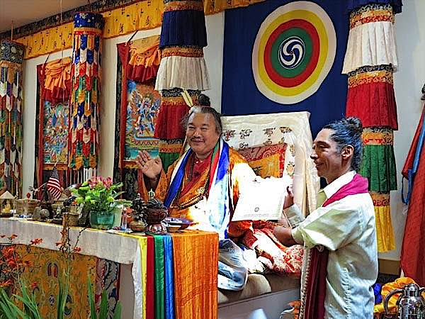 Buddha Weekly Alejandro and teacher Dzogchen Khenpo Choga Rinpoche Buddhism