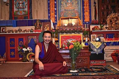 Buddha Weekly Chaphur RInpoche in temple Buddhism