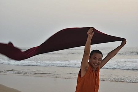 Buddha Weekly Chaphur RInpoche on beach Buddhism