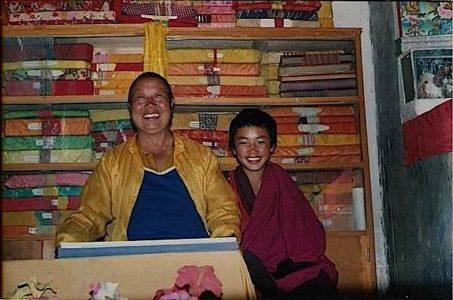 Buddha Weekly Chaphur Rimphoche as boy and His Eminence Bongya Rinpoche Buddhism