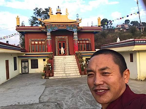 Buddha Weekly Chaphur Rinpoche courtyard Buddhism