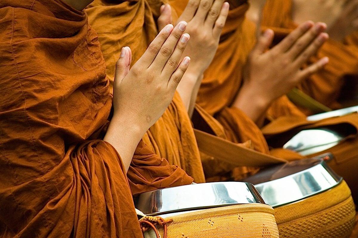 Buddha Weekly Praying Hands Monks Buddhism