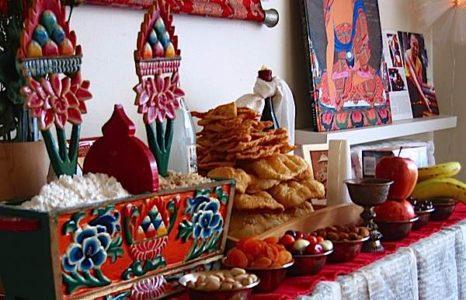 Buddha Weekly Losar food Buddhism