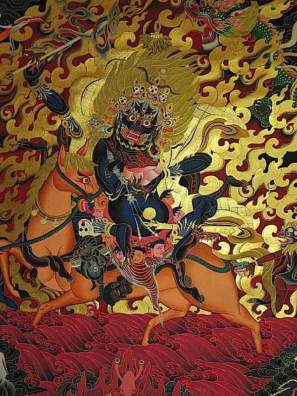 Buddha Weekly Palden Lhamo beautiful gold foil Buddhism