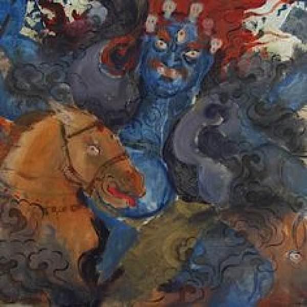 Buddha Weekly Palden Lhamo watercolour Buddhism