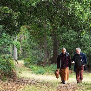 Buddha Weekly Rinpoche takes a walk at Dorje Ling.JPG Buddhism