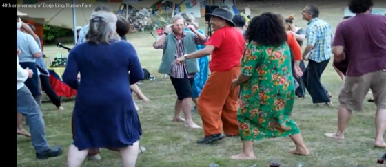 Dancing with the Guru at Dorje Ling 40th anniversary Zasep Rinpoche Tasmania