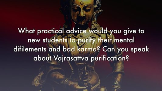 Buddha Weekly Advice from teacher Zasep Rinpoche for Students on Purification video Buddhism
