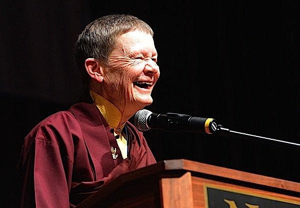 Buddha Weekly Ani Pema Chodron at the Naropa Graduation photo by Cliff Grassmick of the Daily Camera Buddhism