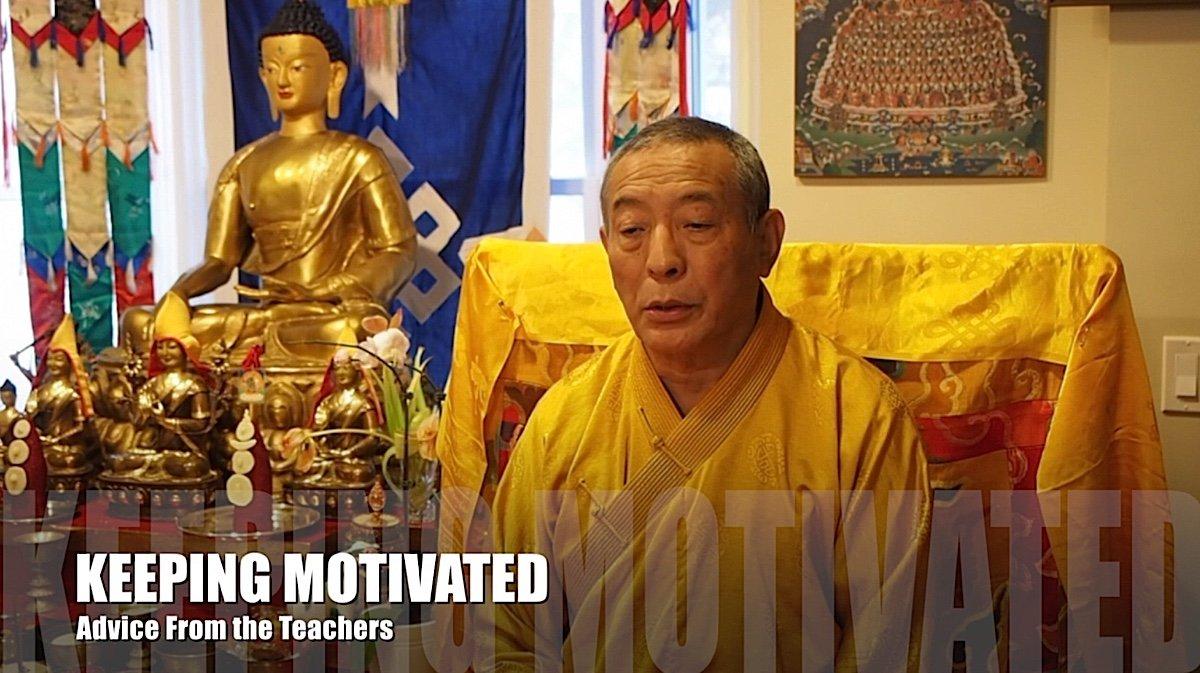 Buddha Weekly Keeping Motivated in Buddhist Practice Teacher Advice Video 7 Buddhism