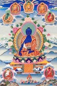 Buddha Weekly Medicine Buddha Tangkha Buddhism