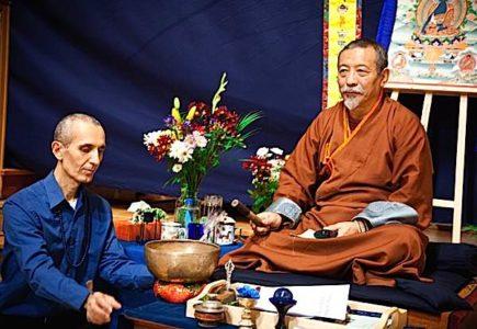 Buddha Weekly Theodore with Zasep Tulku Rinpoche at Medicine Buddha Event Buddhism