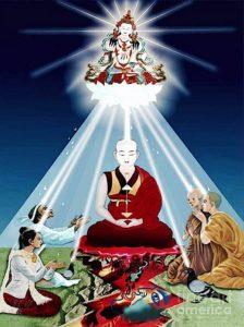 Buddha Weekly Vajrasattva light enters to purify Buddhism