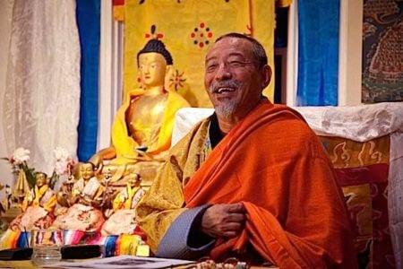Buddha Weekly Zasep Tulku Rinpoche happy at Medicine Buddha event Buddhism
