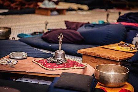 Buddha Weekly break time at a medicine buddha retreat Buddhism