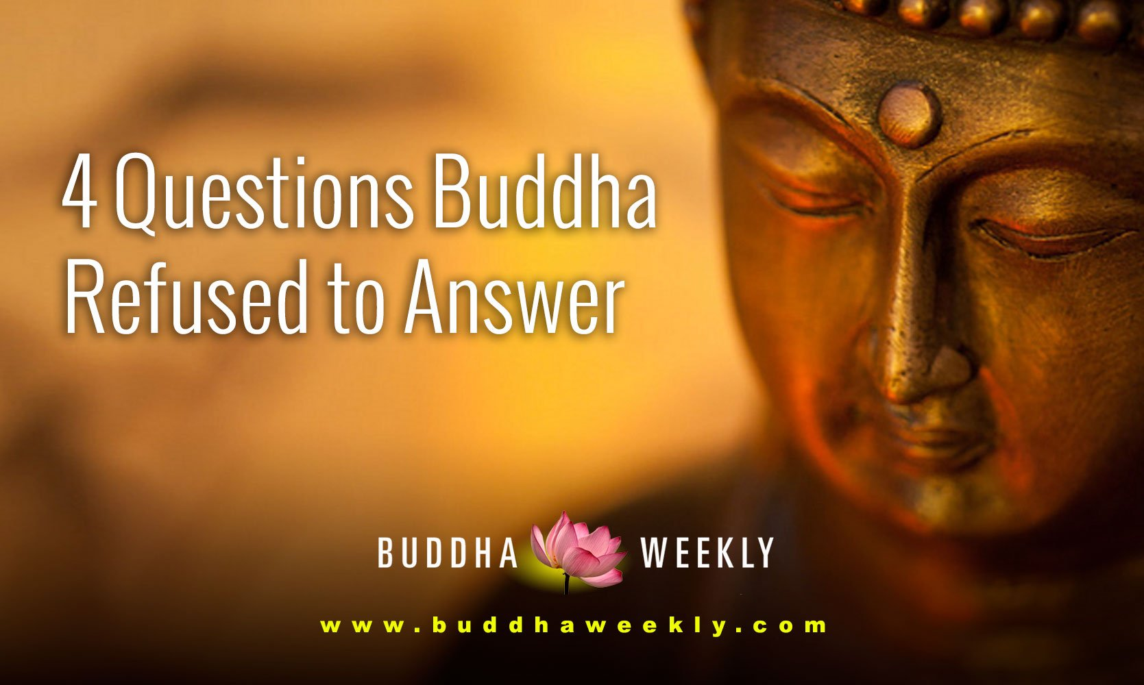 Four Questions the Buddha Would NOT Answer and Why: Is the Cosmos