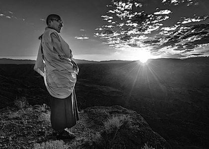 Buddha Weekly Geshe Sherab BW landscape Buddhism