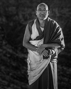 Buddha Weekly Geshe Sherab BW vertical Buddhism