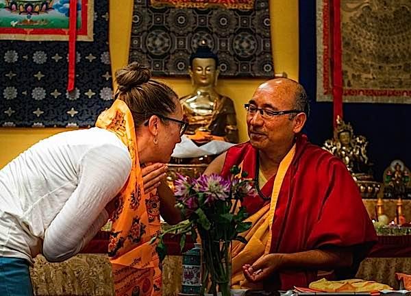 Buddha Weekly Geshe Sherab and kata with student Buddhism