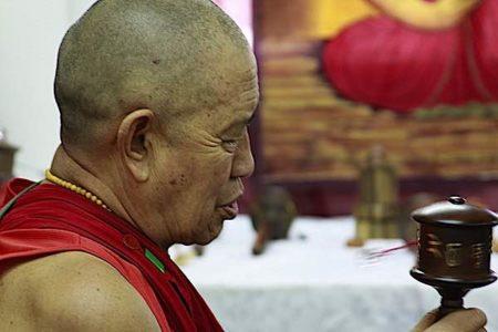 Buddha Weekly H.E. Garchen Rinpoche visits Galgamani spins wheel Buddhism