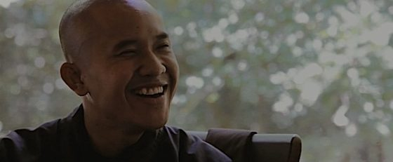 Buddha Weekly Monk from Walk With Me smiling Buddhism