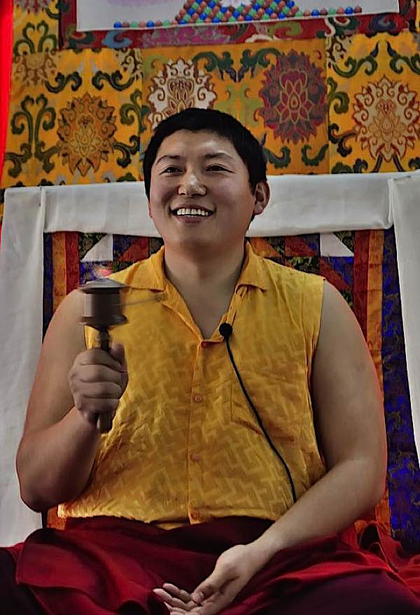 Buddha Weekly Phackchock Rinpoche with Wheel at Teaching Galgami Art Project Buddhism