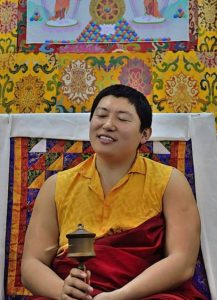 Buddha Weekly Phakchock Rinpoche with Galgamani Art Project Wheel at teaching Buddhism