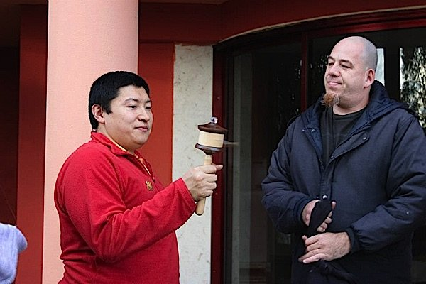 Buddha Weekly Rinpoche with Micha Strauss Tries custom wheel Galgamani Art Project Buddhism