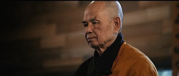 "Thich Nhat Hanh contemplating. From the movie ""Walk with me"", releasing in 2017."