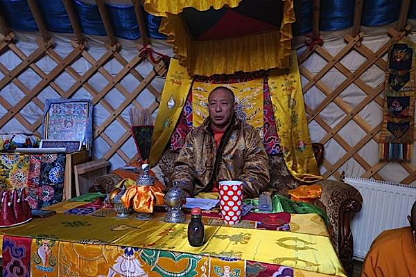 Zasep Tulku Rinpoche teaching in Mongolia Yurt 2017