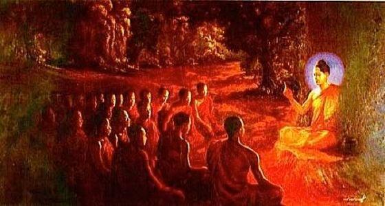 Buddha Weekly buddha teaching at night Buddhism