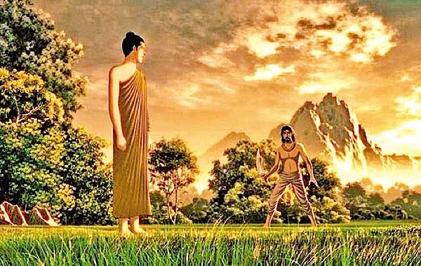 Buddha Weekly Anguilimala tries to kill Shakyamuuni Buddha Buddhism