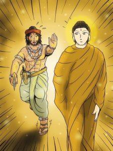 Buddha Weekly Angulimala vertical tries to kill buddha Buddhism