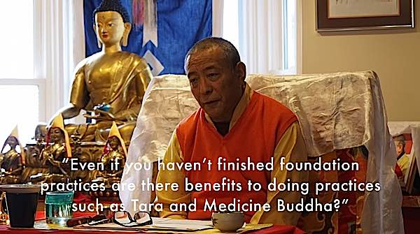Buddha Weekly Do you need to finish Buddhist foundation practices before deity yoga Zasep Tulku Rinpoche Buddhism