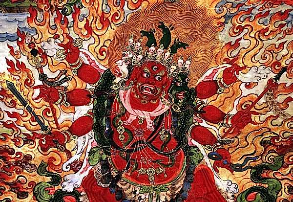 What's so special about Hayagriva? This wrathful Heruka emanation of Amitabha, with horse head erupting from fiery hair, literally neighs with the Hrih scream of Wisdom