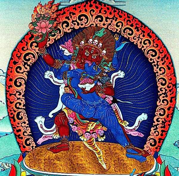 Buddha Weekly Hayagriva close cropped red lotus Buddhism
