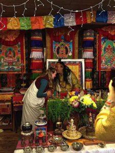 Buddha Weekly Lama Dr. Shannon Young teaching speaking to her teacher Dzogchen Khenpo Choga Rinpoche Buddhism