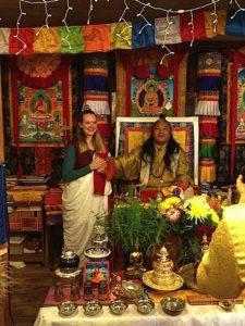 Buddha Weekly Lama Dr. Shannon Young teaching with her teacher Dzogchen Khenpo Choga Rinpoche Buddhism