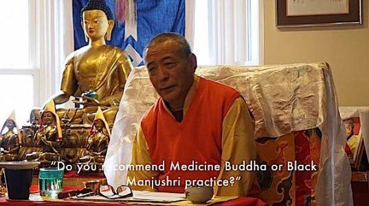 Buddha Weekly Medicine Buddha or Black Manjushri better for healing answered Zasep Rinpoche Buddhism