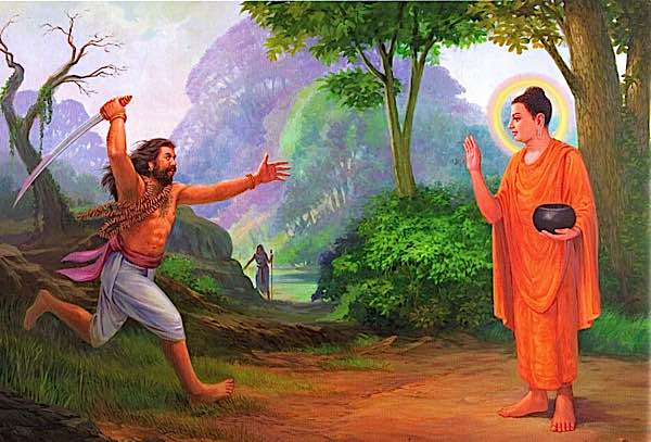 Buddha Weekly angulimala charges to Kill Buddha but he can never touch him Buddhism