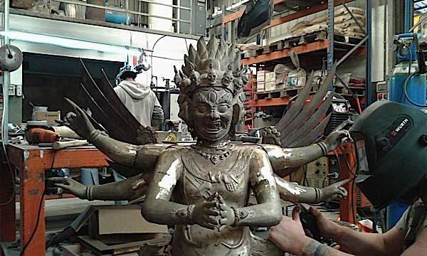 Buddha Weekly Big statue of Vajrakilaya in process Buddhism e1497365154969