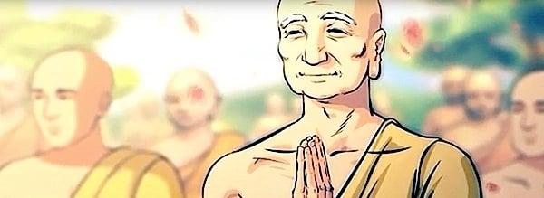 Buddha Weekly Buddha teaches Amitabha Sutra to monks and Bodhisattvas Sariputa Buddhism