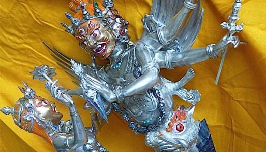 Buddha Weekly Very special pair of Phurba Vajrikilaya and consort natsog dorje Buddhism