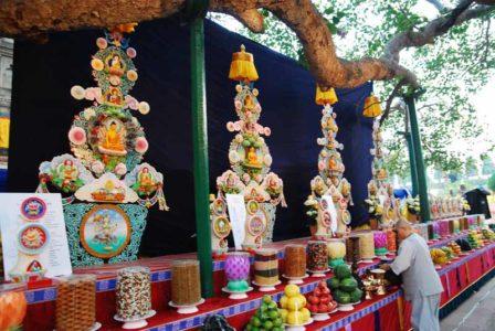 Offerings at Bodhghaya