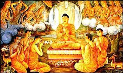 Buddha Weekly Buddha teaching the gods and men the Great Meeting Sutra Buddhism