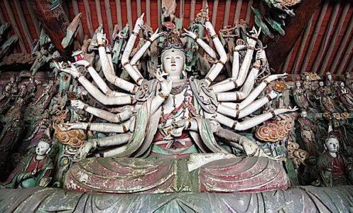 Buddha Weekly Famous large 1000 armed Kuan Yin Statue China Buddhism