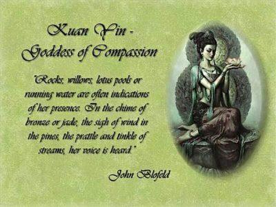 Buddha Weekly Kuan Yin Prayer and image John Bloefield Buddhism