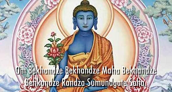 Buddha Weekly Medicine Buddha Newari Style with mantra Buddhism