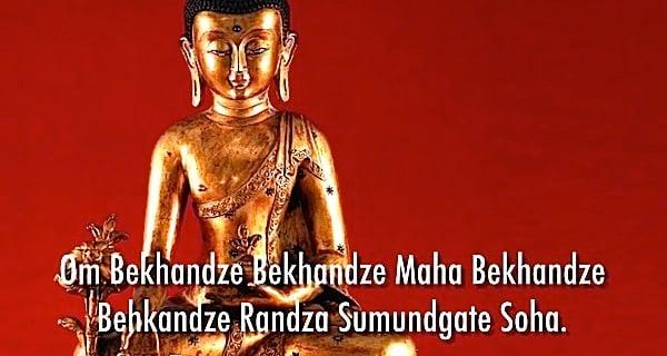 Buddha Weekly Medicine Buddha Statue with Mantra Buddhism